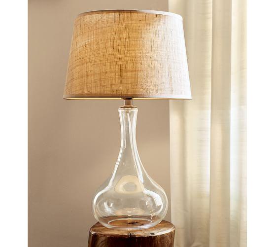 natural fiber tapered drum lamp shade pottery barn. Black Bedroom Furniture Sets. Home Design Ideas