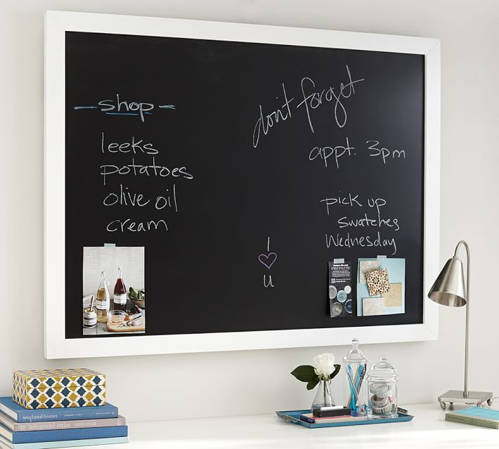 framed chalkboard pottery barn