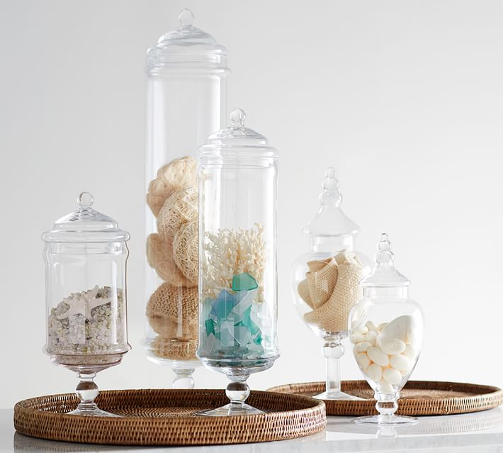 Apothecary Jars Bathroom Set Thedancingpa Com