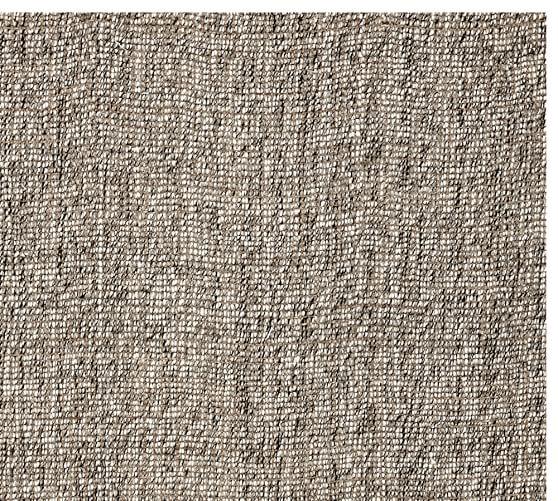 Chunky Wool Amp Jute Rug Gray Pottery Barn