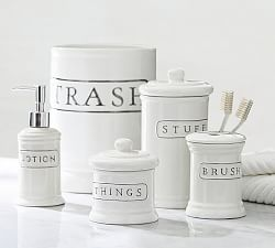 bathroom canisters  accessories  pottery barn, Home decor
