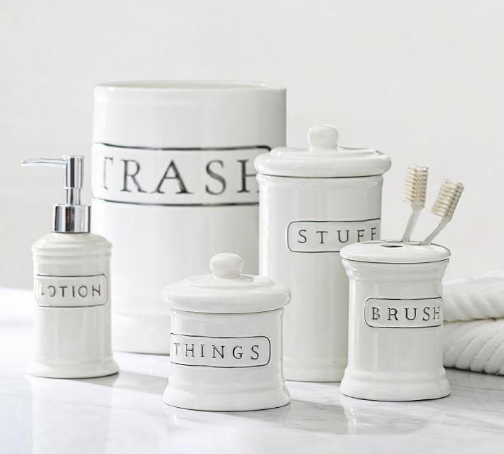 all bath accessories  pottery barn, Bathroom decor