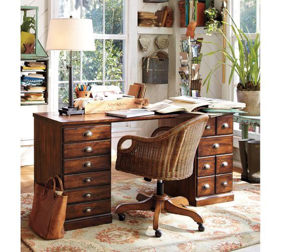 Printer 39 s rectangular desk set pottery barn for Pottery barn printer s desk reviews