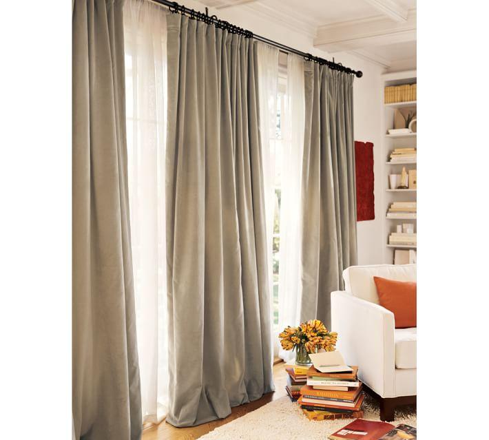 Curtains Ideas curtains double width : Velvet Drape | Pottery Barn