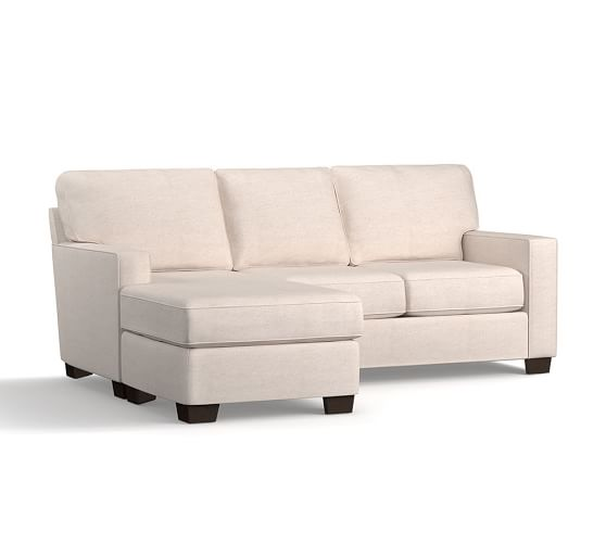 Buchanan square arm slipcovered sofa with rev chaise for Buchanan chaise sofa from pottery barn
