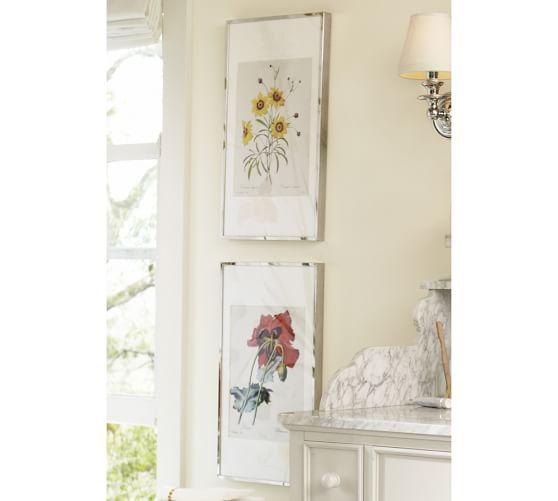 nickel plated framed botanical prints pottery barn