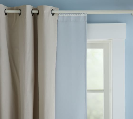 Curtains Ideas blackout curtain backing : Blackout Drape Liner | Pottery Barn