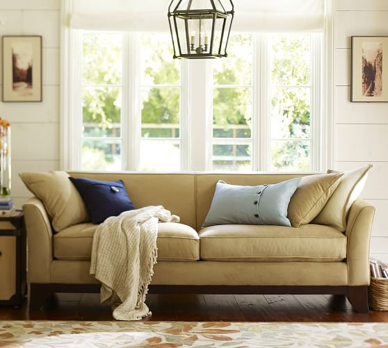 greenwich upholstered sofa pottery barn