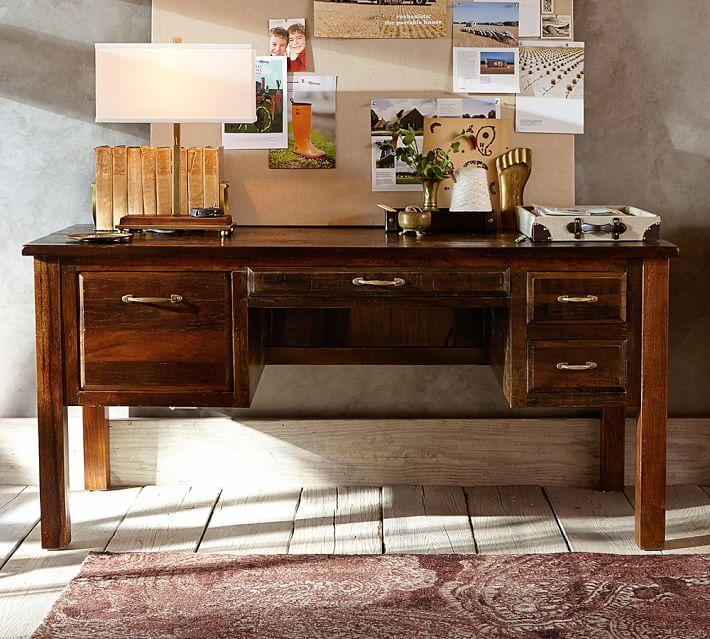 . Bowry Reclaimed Wood Desk   Pottery Barn