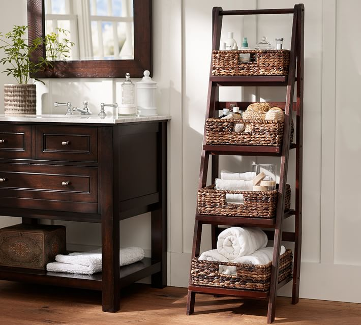 Bathroom Floor Storage | Pottery Barn