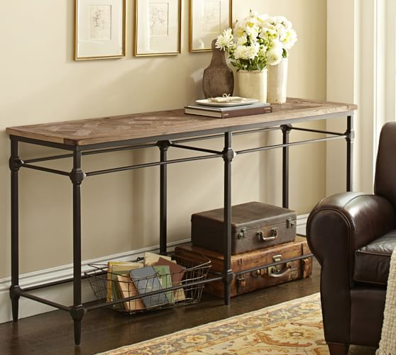 Parquet Reclaimed Wood Console Table | Pottery Barn