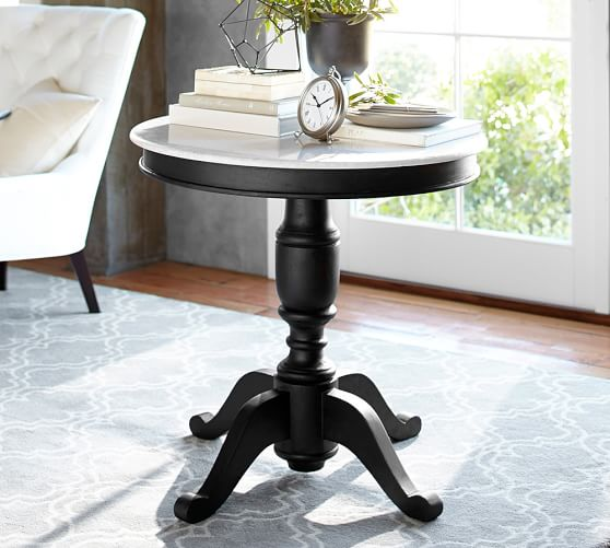60 Inch Square Pedestal Table: Terri Marble-Top Large Pedestal Table
