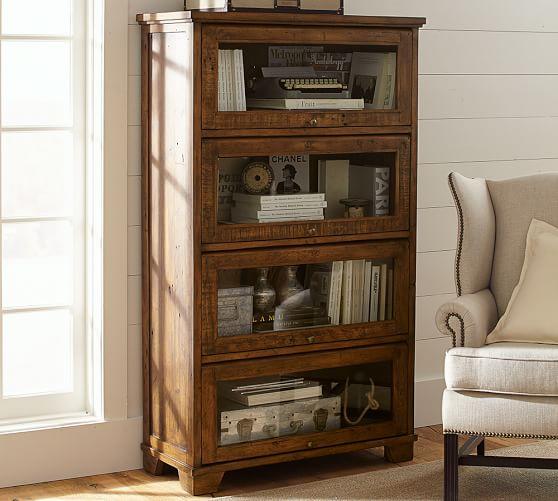 Hatton Reclaimed Wood Bookcase   Pottery Barn