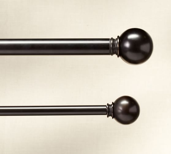 PB Standard Ball Finial & Drape Rod - Antique Bronze finish ...
