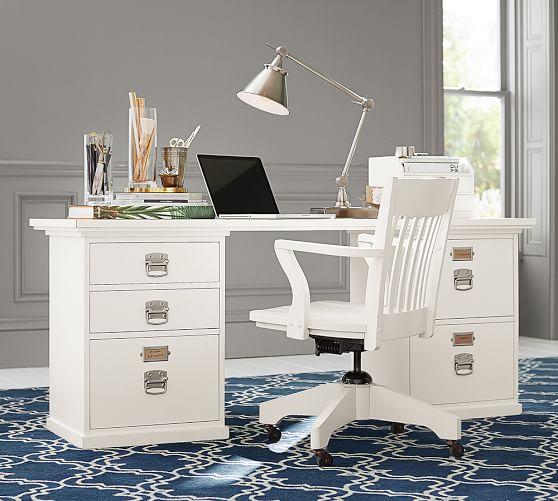 Bedford rectangular desk pottery barn - Pottery barn office desk ...