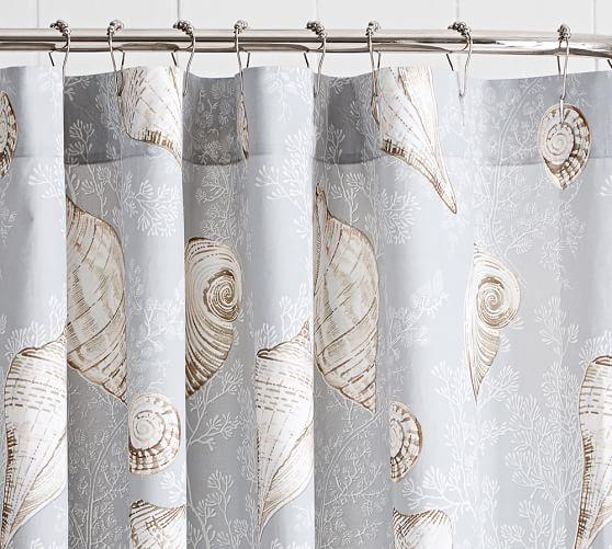 Summer Seashell Shower Curtain Pottery Barn