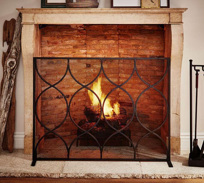 - Moroccan Twist Fireplace Single Screen Pottery Barn