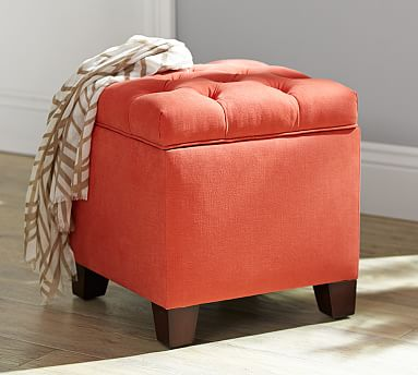 Lorraine Tufted Storage... By Pottery Barn $399 Pottery Barn