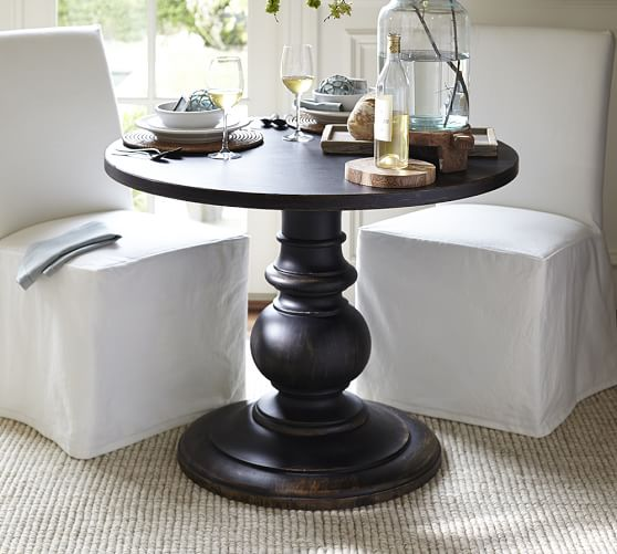 Foyer Table Pottery Barn : Dawson large pedestal table pottery barn
