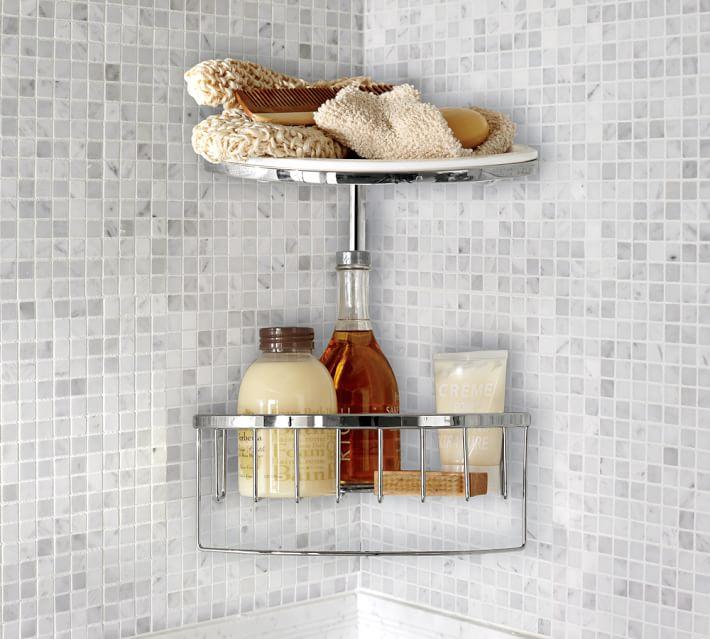 . Double Corner Shower Caddy   Pottery Barn