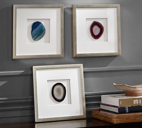 framed agate shadow box pottery barn