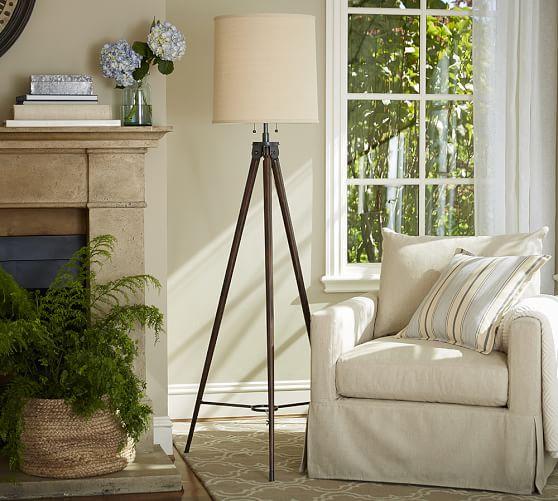 gibson statement tripod floor lamp pottery barn. Black Bedroom Furniture Sets. Home Design Ideas