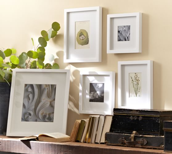 wood gallery single opening frames white pottery barn