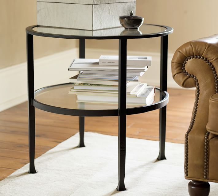 Tanner Round Side Table - Bronze Finish | Pottery Barn