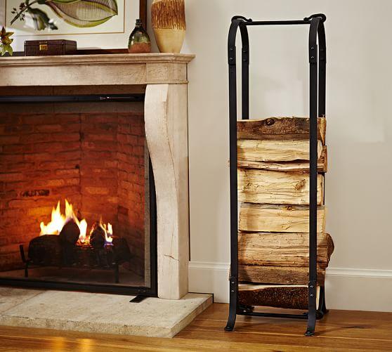 - Laramer Fireplace Log Holder Pottery Barn