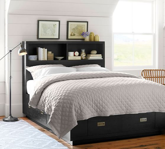 reynolds storage bed pottery barn. Black Bedroom Furniture Sets. Home Design Ideas