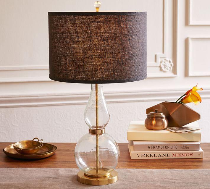 Jasmine Fluted Glass Table Lamp Base   Pottery Barn:,Lighting