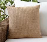Faux Natural Fiber Indoor/Outdoor Pillow, 18