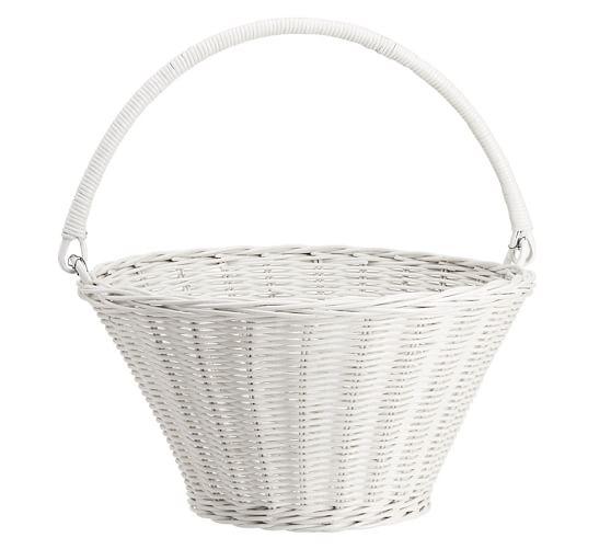 White Sabrina Easter Basket Collapsible - Large