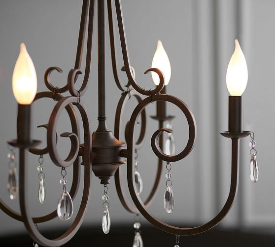 Audrina Crystal Chandelier – Candle Crystal Chandelier
