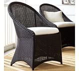 Palmetto All-Weather Wicker Dining Chair, Black