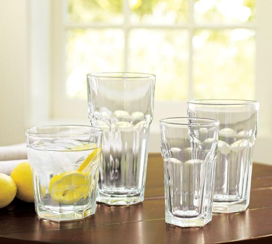 Cafe Assorted Glassware, Set of 16