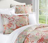 Gemma Paisley Organic Cotton Duvet Cover, Twin, Multicolor
