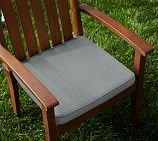 Universal Outdoor Piped Dining Cushion,Sunbrella® Mist