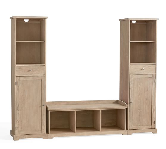 Samantha 3 Piece Bench Storage Tower Entryway Set Pottery Barn