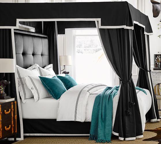 ken fulk adjustable canopy bed frame pottery barn