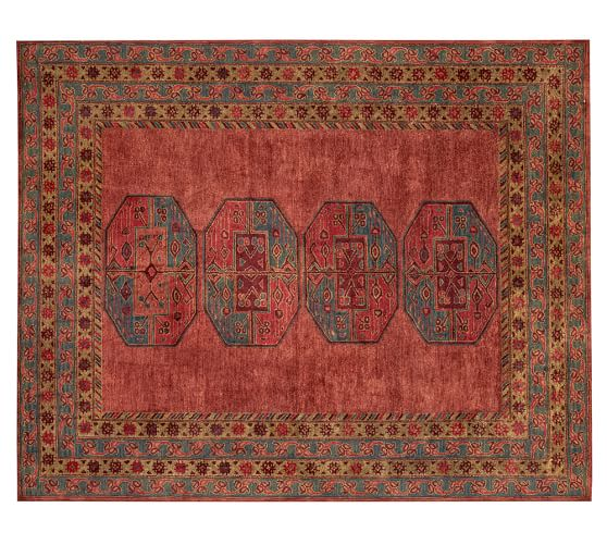 Arlo Persian Rug, 9x12', Red Multi