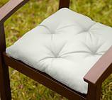 Universal Tufted Dining Cushion- Sunbrella®Brice Stripe Emerald with Ivory