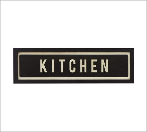kitchen signs framed kitchen sign pottery barn 426