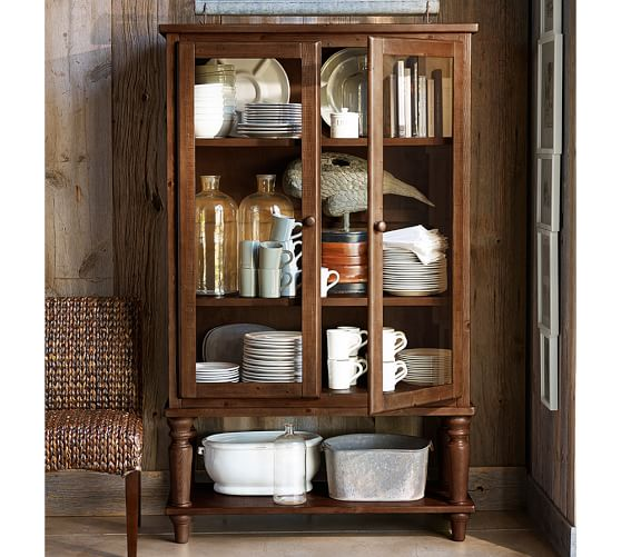 pottery barn kitchen cabinets sumner glass cabinet pottery barn 24873