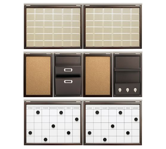 office wall organization system daily system 48 quot wall organizing sets pottery barn 23972
