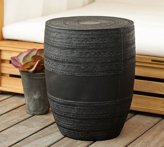 frog drum accent table
