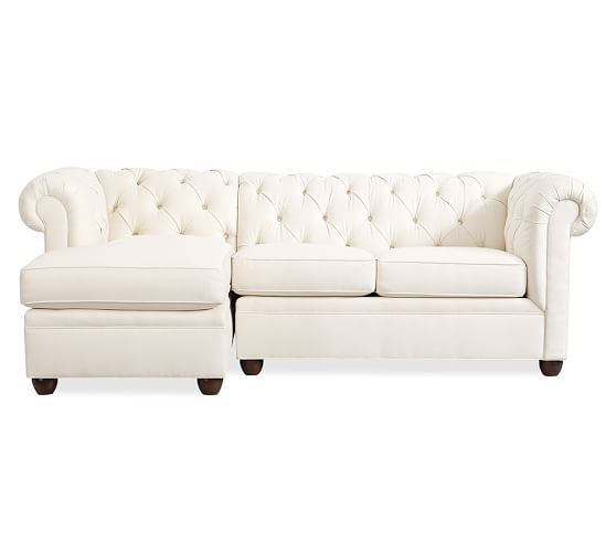 chesterfield tufted upholstered chaise sofa sectional