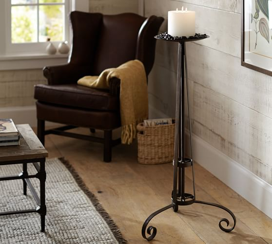 Finest Wrought Iron Floor Candle Holders. Standing Candle Holders Floor  UC75