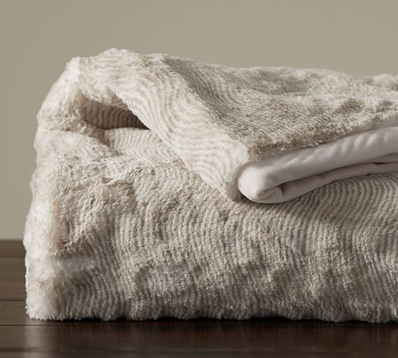Shoptagr Quail Faux Fur Throw Taupe By Pottery Barn