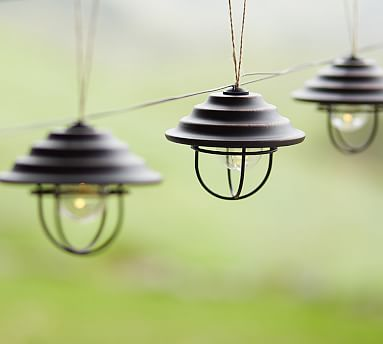 Metal Cage String Light By Pottery Barn 69